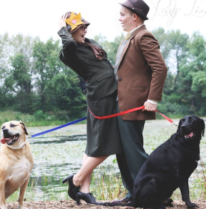 Couple Recreates Disney's '101 Dalmatians' For Engagement Shoot