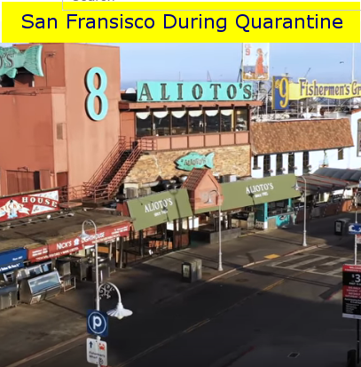 Drone Video Shows San Francisco's Deserted Tourist District