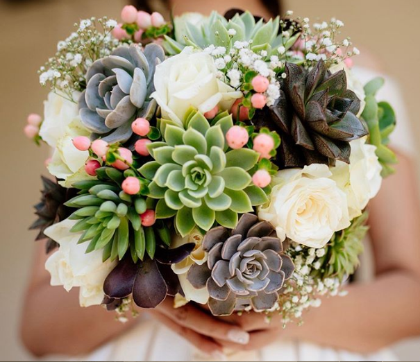 Brides Are Replacing Flower Bouquets With Succulents And It's Amazing