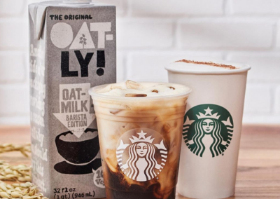 Starbucks Launched New Non-Dairy Menu Items Nationwide Including Oatly